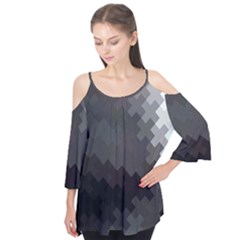 Abstract Pattern Moving Transverse Flutter Tees