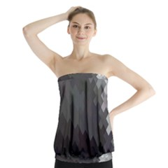 Abstract Pattern Moving Transverse Strapless Top