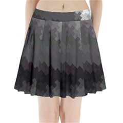 Abstract Pattern Moving Transverse Pleated Mini Skirt