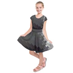 Abstract Pattern Moving Transverse Kids  Short Sleeve Dress