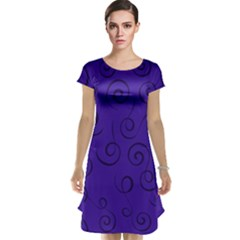 Pattern Cap Sleeve Nightdress