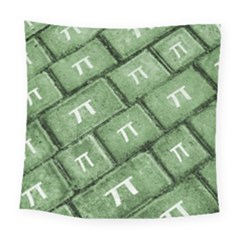Pi Grunge Style Pattern Square Tapestry (large)