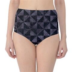 Triangle1 Black Marble & Black Watercolor High Waist Bikini Bottoms