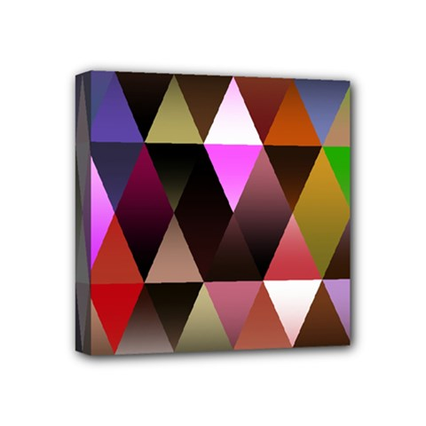 Triangles Abstract Triangle Background Pattern Mini Canvas 4  X 4