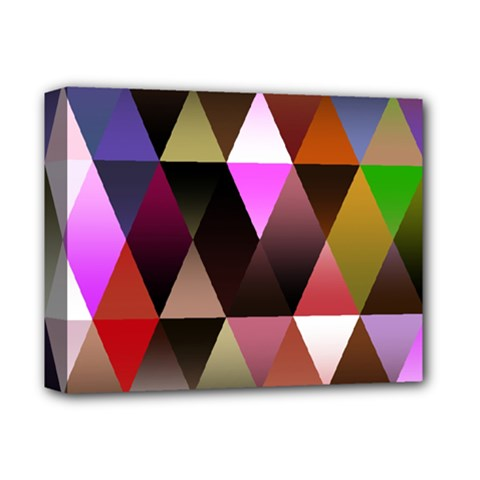 Triangles Abstract Triangle Background Pattern Deluxe Canvas 14  X 11
