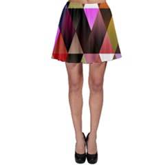 Triangles Abstract Triangle Background Pattern Skater Skirt