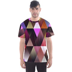Triangles Abstract Triangle Background Pattern Men s Sport Mesh Tee