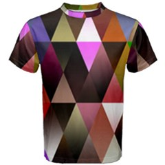 Triangles Abstract Triangle Background Pattern Men s Cotton Tee