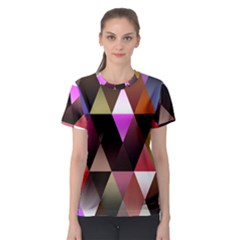 Triangles Abstract Triangle Background Pattern Women s Sport Mesh Tee