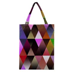 Triangles Abstract Triangle Background Pattern Classic Tote Bag