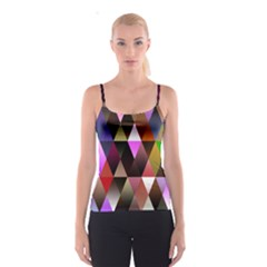 Triangles Abstract Triangle Background Pattern Spaghetti Strap Top