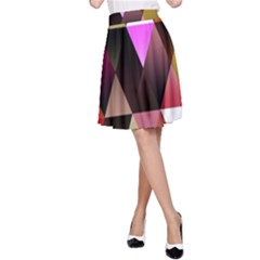 Triangles Abstract Triangle Background Pattern A Line Skirt