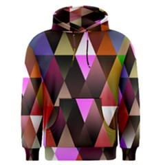 Triangles Abstract Triangle Background Pattern Men s Pullover Hoodie