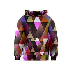 Triangles Abstract Triangle Background Pattern Kids  Pullover Hoodie
