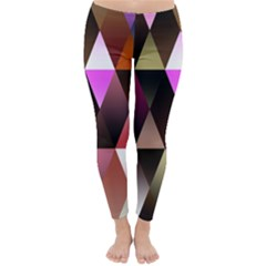 Triangles Abstract Triangle Background Pattern Classic Winter Leggings