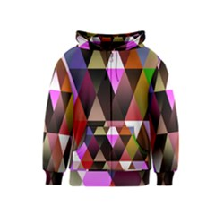 Triangles Abstract Triangle Background Pattern Kids  Zipper Hoodie
