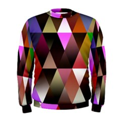 Triangles Abstract Triangle Background Pattern Men s Sweatshirt