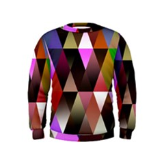 Triangles Abstract Triangle Background Pattern Kids  Sweatshirt