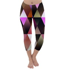 Triangles Abstract Triangle Background Pattern Capri Winter Leggings