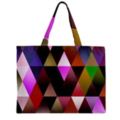 Triangles Abstract Triangle Background Pattern Zipper Mini Tote Bag
