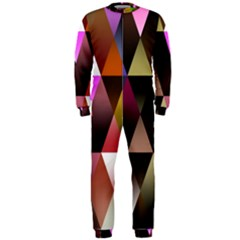 Triangles Abstract Triangle Background Pattern OnePiece Jumpsuit (Men)