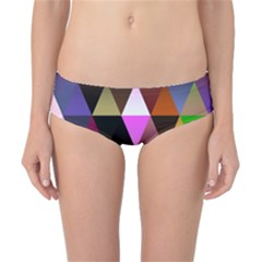 Triangles Abstract Triangle Background Pattern Classic Bikini Bottoms