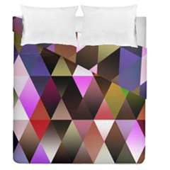 Triangles Abstract Triangle Background Pattern Duvet Cover Double Side (queen Size)