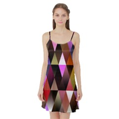 Triangles Abstract Triangle Background Pattern Satin Night Slip