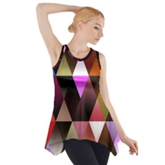 Triangles Abstract Triangle Background Pattern Side Drop Tank Tunic