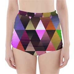 Triangles Abstract Triangle Background Pattern High Waisted Bikini Bottoms