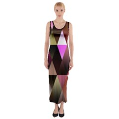 Triangles Abstract Triangle Background Pattern Fitted Maxi Dress