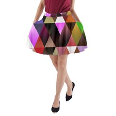 Triangles Abstract Triangle Background Pattern A Line Pocket Skirt