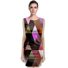 Triangles Abstract Triangle Background Pattern Classic Sleeveless Midi Dress