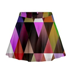 Triangles Abstract Triangle Background Pattern Mini Flare Skirt