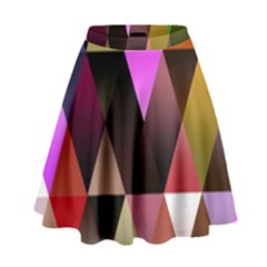 Triangles Abstract Triangle Background Pattern High Waist Skirt