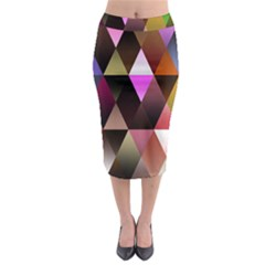 Triangles Abstract Triangle Background Pattern Midi Pencil Skirt