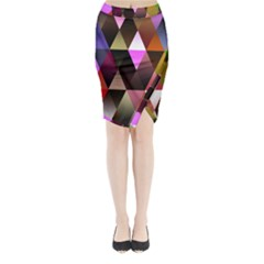 Triangles Abstract Triangle Background Pattern Midi Wrap Pencil Skirt