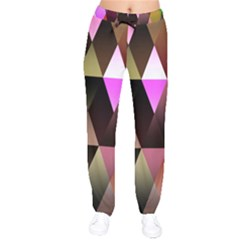 Triangles Abstract Triangle Background Pattern Drawstring Pants