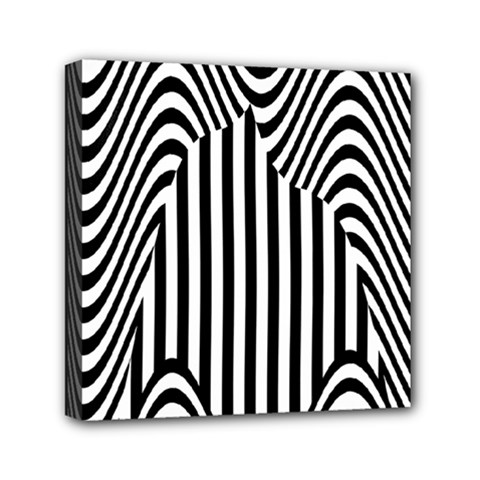 Stripe Abstract Stripped Geometric Background Mini Canvas 6  X 6