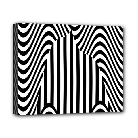 Stripe Abstract Stripped Geometric Background Canvas 10  x 8