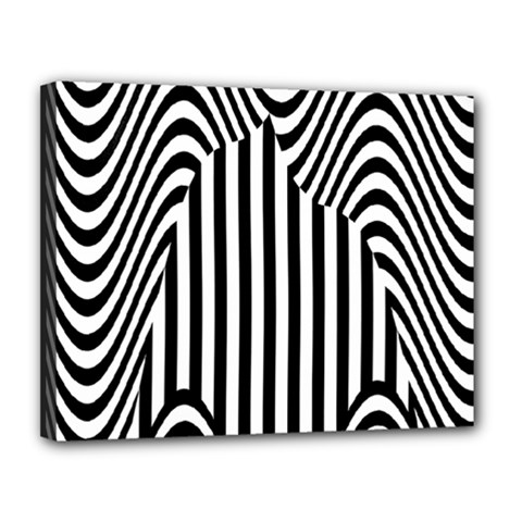 Stripe Abstract Stripped Geometric Background Canvas 14  X 11