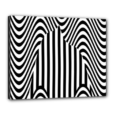 Stripe Abstract Stripped Geometric Background Canvas 20  x 16