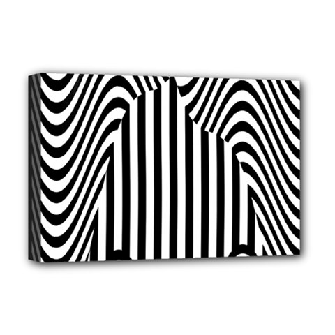 Stripe Abstract Stripped Geometric Background Deluxe Canvas 18  x 12
