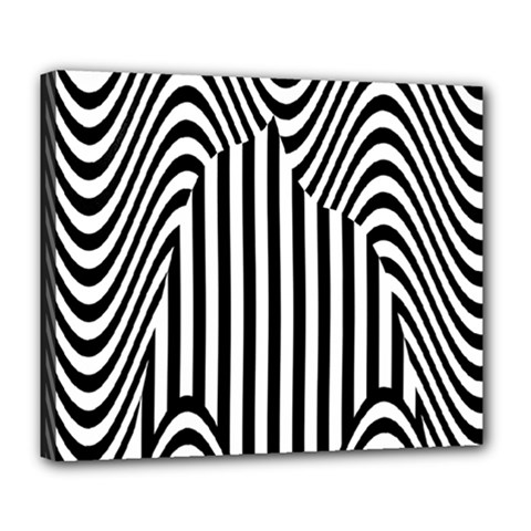 Stripe Abstract Stripped Geometric Background Deluxe Canvas 24  X 20