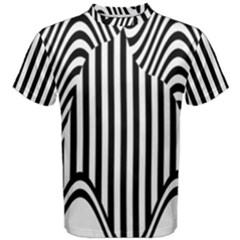 Stripe Abstract Stripped Geometric Background Men s Cotton Tee