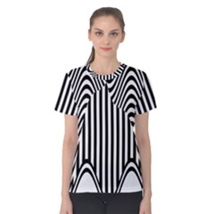 Stripe Abstract Stripped Geometric Background Women s Cotton Tee