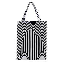 Stripe Abstract Stripped Geometric Background Classic Tote Bag