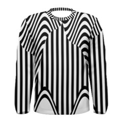 Stripe Abstract Stripped Geometric Background Men s Long Sleeve Tee