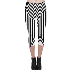 Stripe Abstract Stripped Geometric Background Capri Leggings