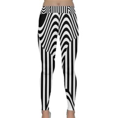 Stripe Abstract Stripped Geometric Background Classic Yoga Leggings